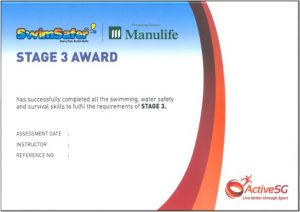 Swimsafer Stage 3 Cert